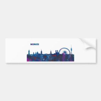Munich Skyline Silhouette Bumper Sticker