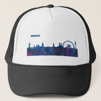 Munich Skyline Silhouette Trucker Hat