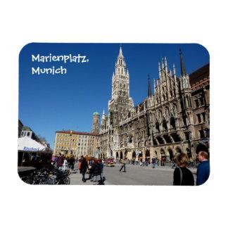 Munich Square (Marienplatz) Rectangular Photo Magnet