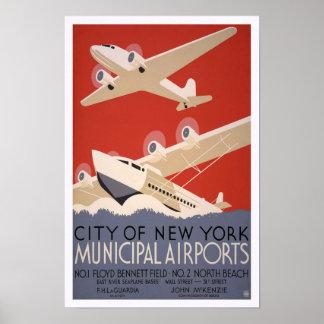 Municipal Airports, 1936 Poster