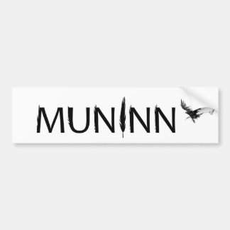 Muninn Bumper Sticker