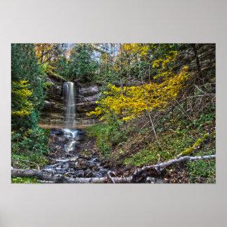 Munising falls in Fall, Munising, Michigan. Poster