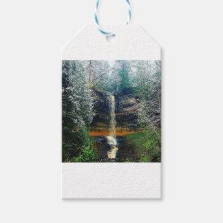Munising Falls Upper Peninsula Michigan Gift Tags