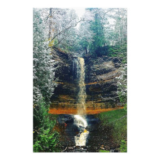 Munising Falls Upper Peninsula Michigan Stationery