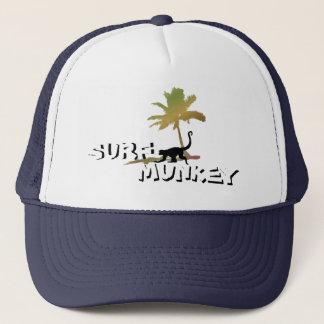 Munkey on the Beach design on trucker hat