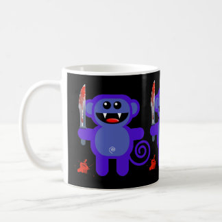 MUNKEY WITH SHARP KNIFE BASIC WHITE MUG