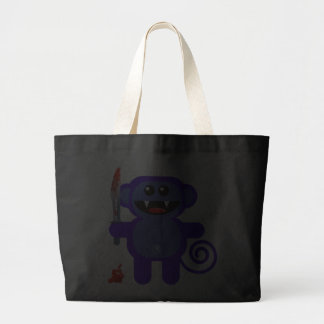 MUNKEY WITH SHARP KNIFE CANVAS BAG