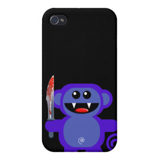 MUNKEY WITH SHARP KNIFE CASES FOR iPhone 4