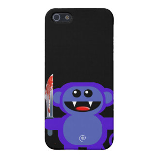 MUNKEY WITH SHARP KNIFE iPhone 5 COVER