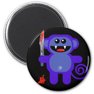 MUNKEY WITH SHARP KNIFE REFRIGERATOR MAGNETS