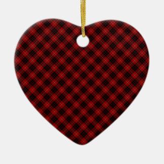 Munro Clan Tartan Designed Print Ceramic Heart Decoration