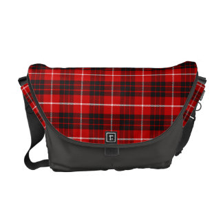 Munro Tartan Red, Black & White Plaid Courier Bag