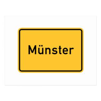 Munster, Germany Road Sign Postcard