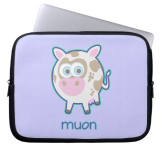 Muon Particle Cow Laptop Sleeve