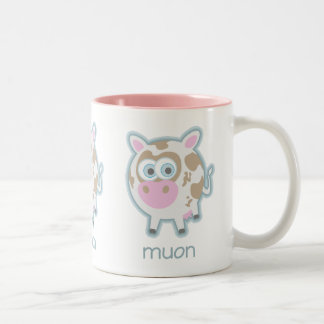 Muon Particle Cow Two-Tone Coffee Mug