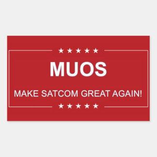 MUOS:  MAKE SATCOM GREAT AGAIN RECTANGULAR STICKER