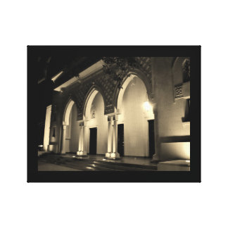Murabba Palace Arches at Night Canvas Print