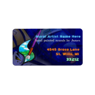 Mural Artist Graphic Design BUSINESS Address Label