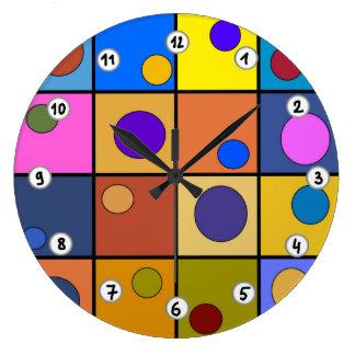 Mural clock round Imagination