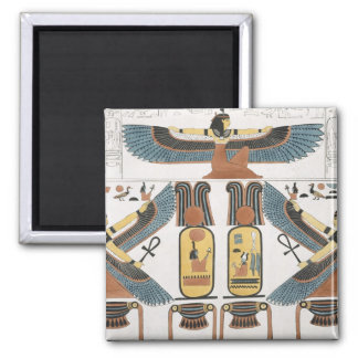 Mural from the Tombs of the Kings at Thebes, disco Square Magnet