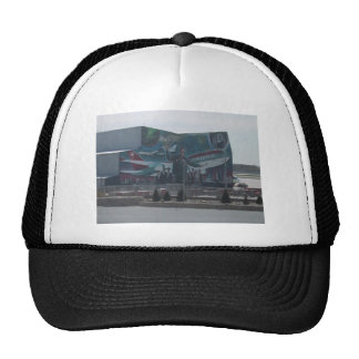 Mural Of Northwest Airlines On A Service Building Trucker Hat