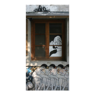 Mural on house, Taipei, Taiwan Photo Card