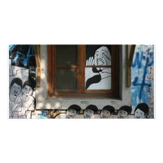Mural on house Taipei Taiwan Photo Cards
