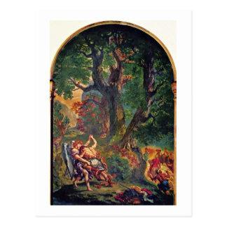 Murals Of Saint-Sulpice In Paris Chapel Postcard