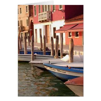 Murano Boats Card