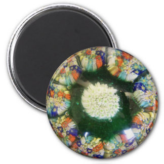 """Murano glass paperweight design, colored """"flowers"""" magnet"""