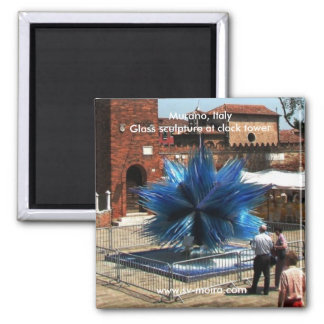 Murano, Italy Clock tower and Glass sculpture Fridge Magnets