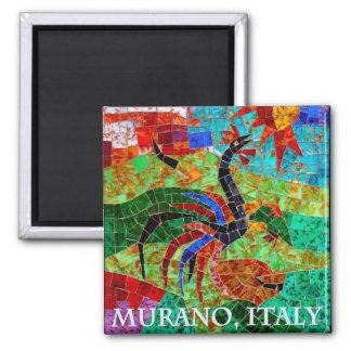 Murano Mosaic II Square Magnet