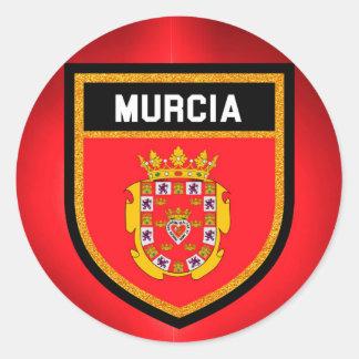 Murcia Flag Classic Round Sticker