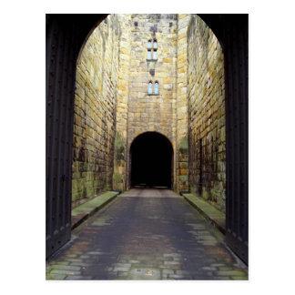 Murder Corridor, Barbican, Alnwick Castle, Northum Postcard