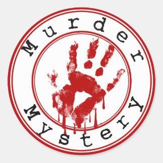 Murder Mystery Genre Round Book Cover Sticker