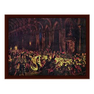 Murder Of The Bishop Of Liege Postcard