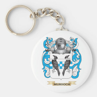 Murdoch-3 Coat of Arms (Family Crest) Basic Round Button Key Ring