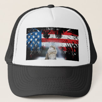 Murica Kitten Trucker Hat