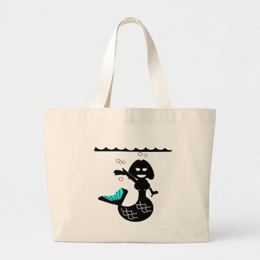 Muriel MacBubbles - Hyperactive Mermaid Canvas Bags