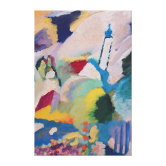 Murnau with Church I, 1910 Canvas Prints