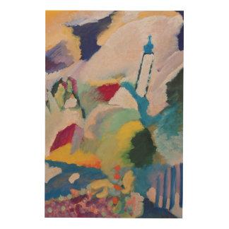 Murnau with Church I, 1910 Wood Canvases