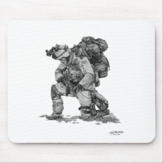 Murphy Elliott-Praying Soldier Mouse Pad