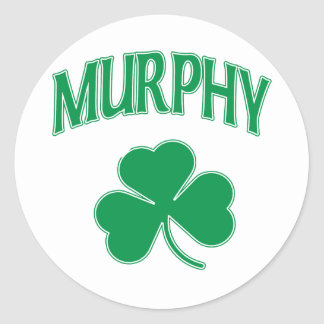 Murphy Irish Round Sticker