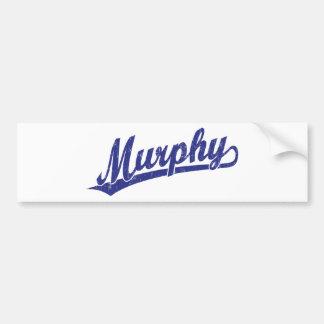Murphy script logo in blue bumper sticker