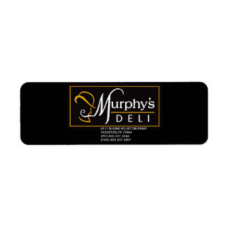 MURPHY'S DELI PROMO STICKER RETURN ADDRESS LABEL