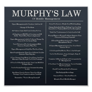 Murphys Laws of Middle Management Poster