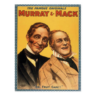 Murray and Mack Vintage Theatre Poster Postcard