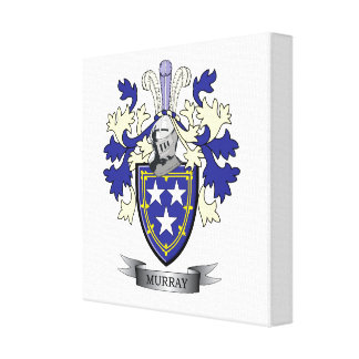 Murray Family Crest Coat of Arms Canvas Print