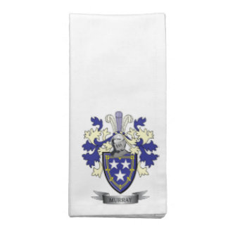 Murray Family Crest Coat of Arms Napkin
