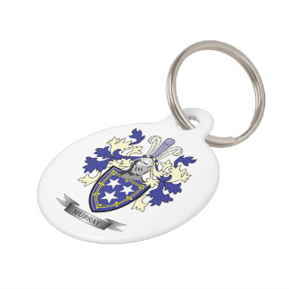 Murray Family Crest Coat of Arms Pet ID Tag